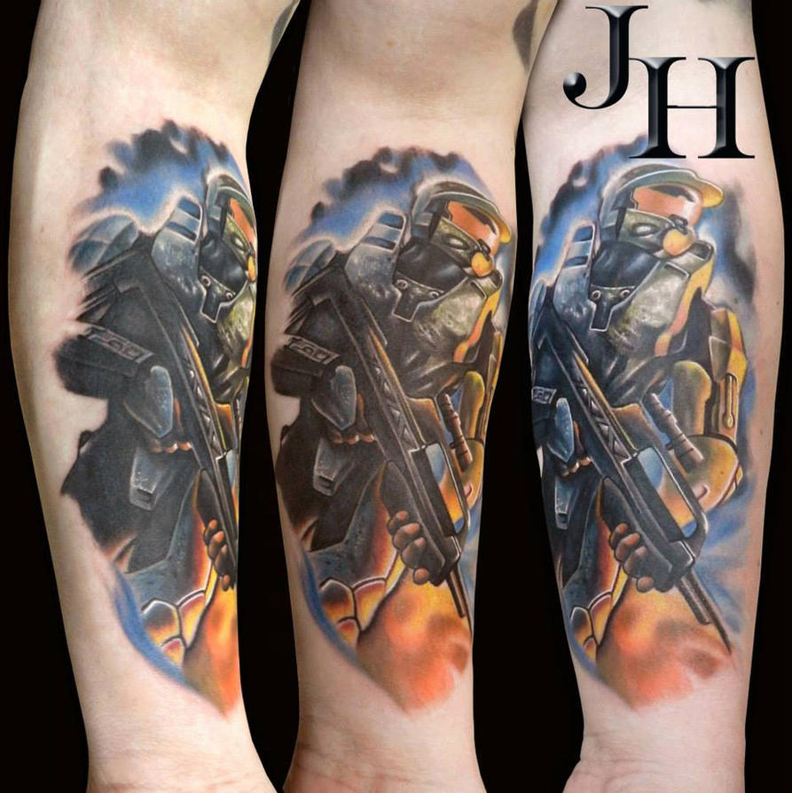 My halo tattoo by d1stortionn on deviantart my halo tattoo by d1stortionn publicscrutiny Gallery