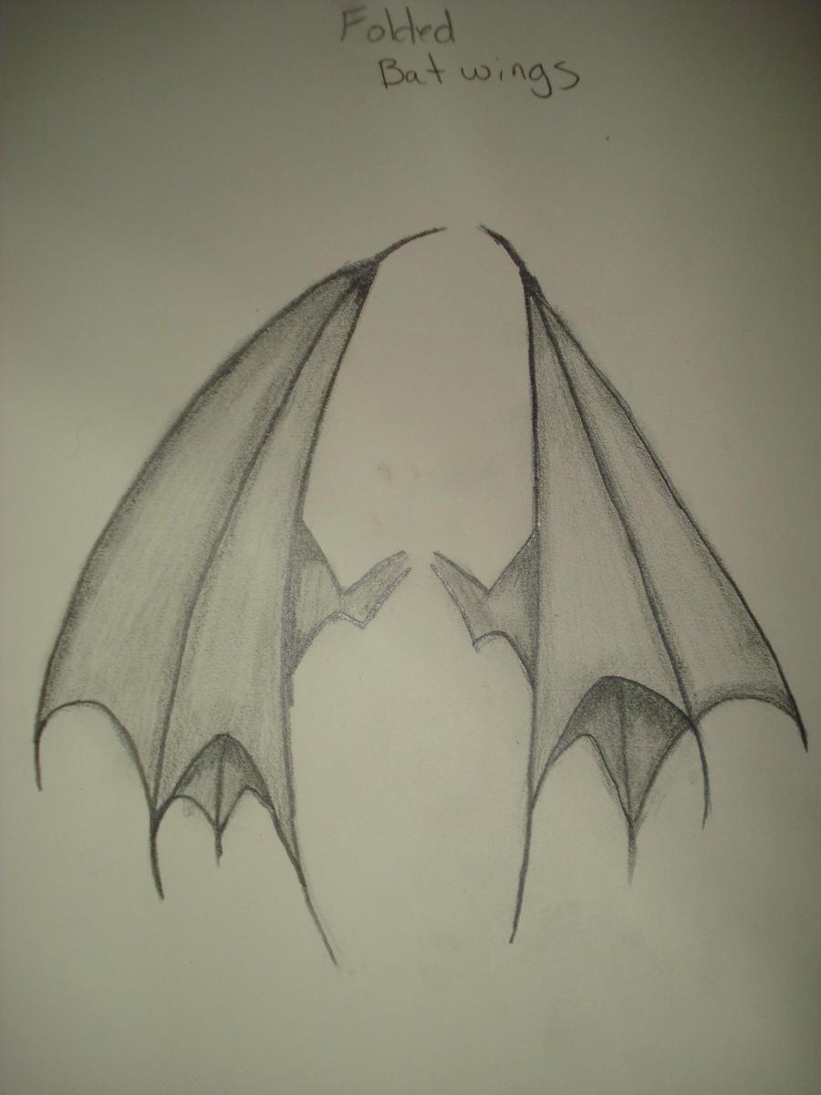 Bat Wings Folded By Aannaeyalia On DeviantArt