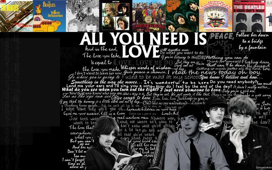 The Beatles Lyrics By DragonIce85