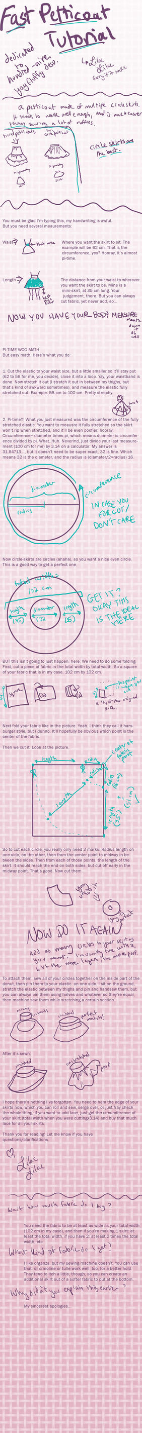 Fast Petticoat Tutorial: Pi!! by LilacLilac