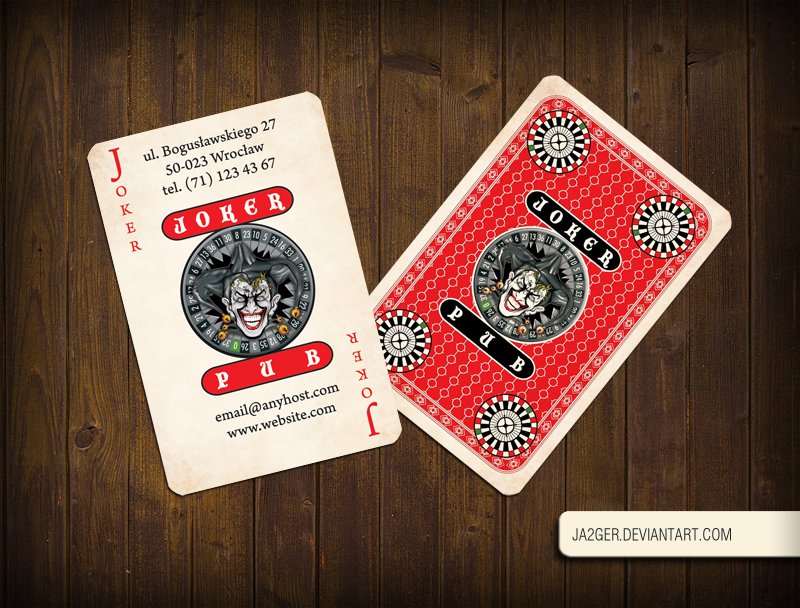 Joker Pub business card by Ja2ger on DeviantArt