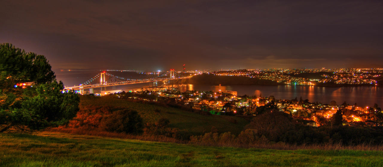 Carquinez Bridge Panorama by kory83