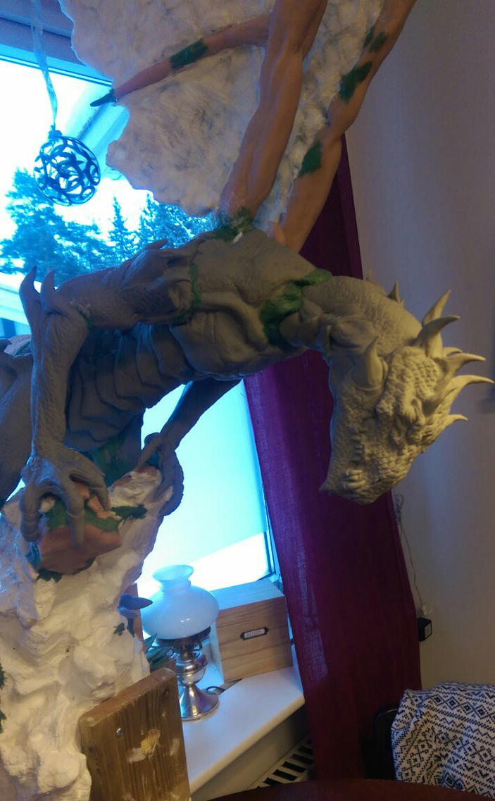 Dragon ready for paint by urbe