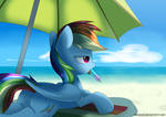 Rainbow Dash and her popsicle by Neoncel