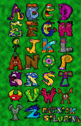 Creepy Critters Alphabet Design Project by HPHyde