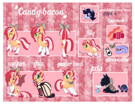 NEW UPDATED Candy Bacon Ref sheet