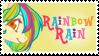 Rainbow Rain Stamp by Doodleshire