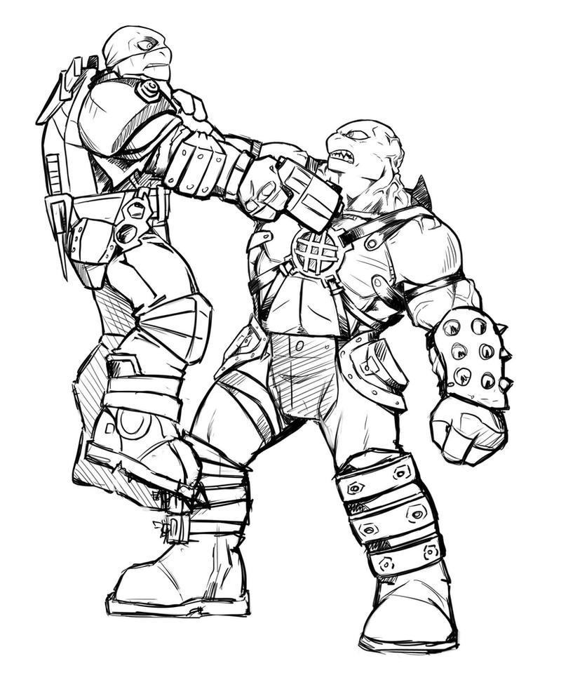 TMNT_MutantApocalypse_Sketch1 by Leimrei