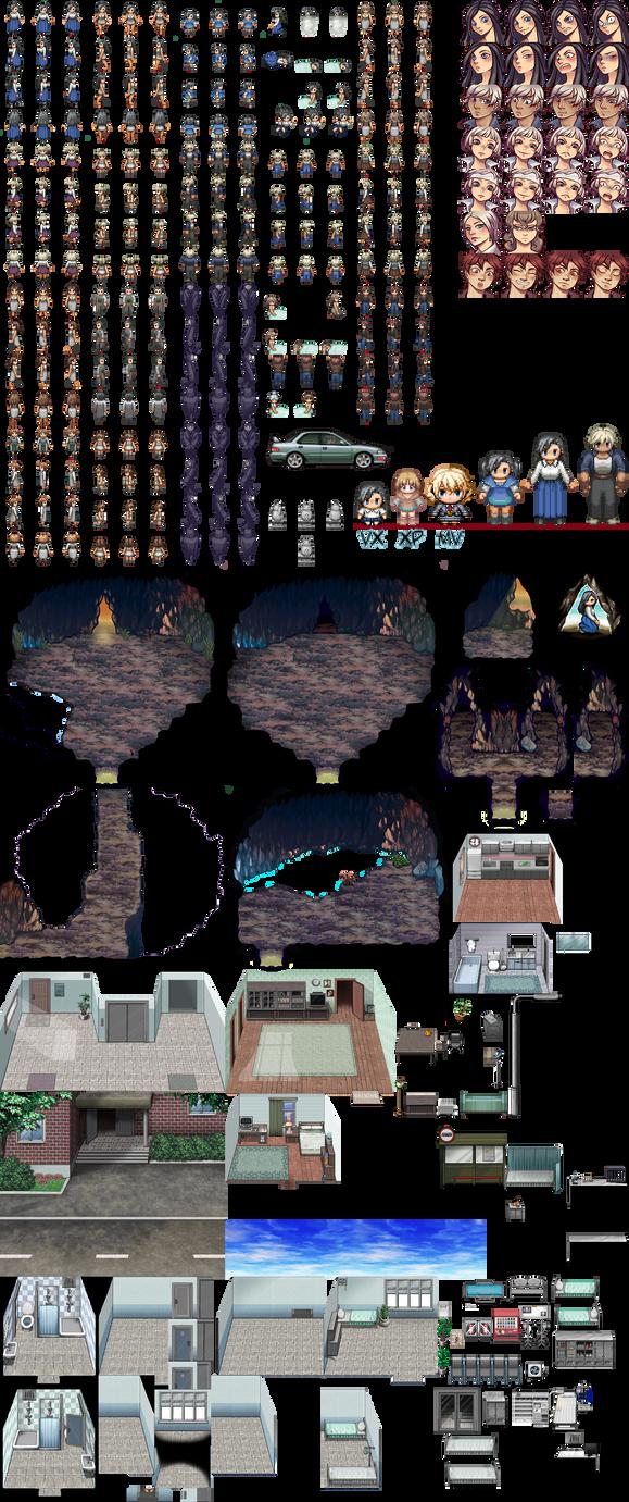 Unused RPGmaker pieces by Leimrei