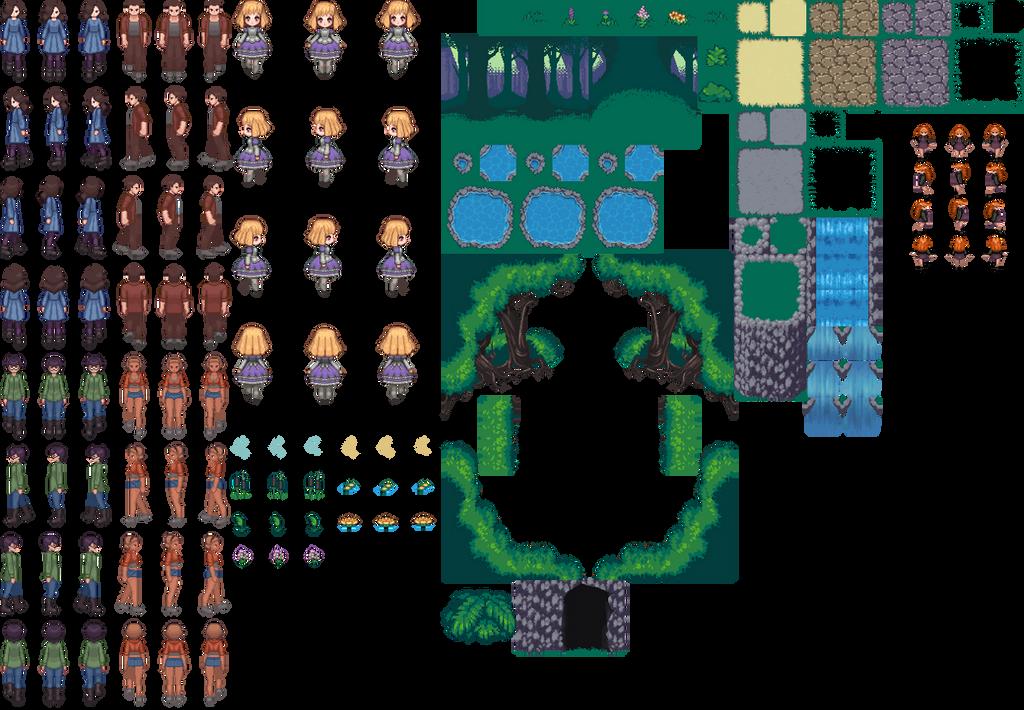 Unused RPGmaker pieces2 by Leimrei