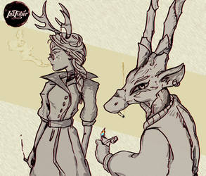 Witches and familiars 15.Antelope