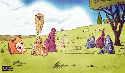 Escenario piedras