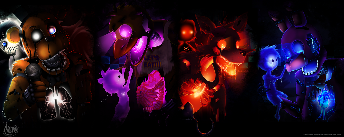Five nights at freddy s wallpaper by thenornonthego on deviantart
