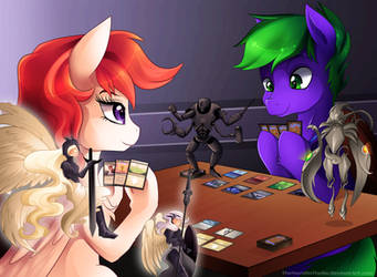 Commission: Cherry Blossom vs. Checkmate by TheNornOnTheGo