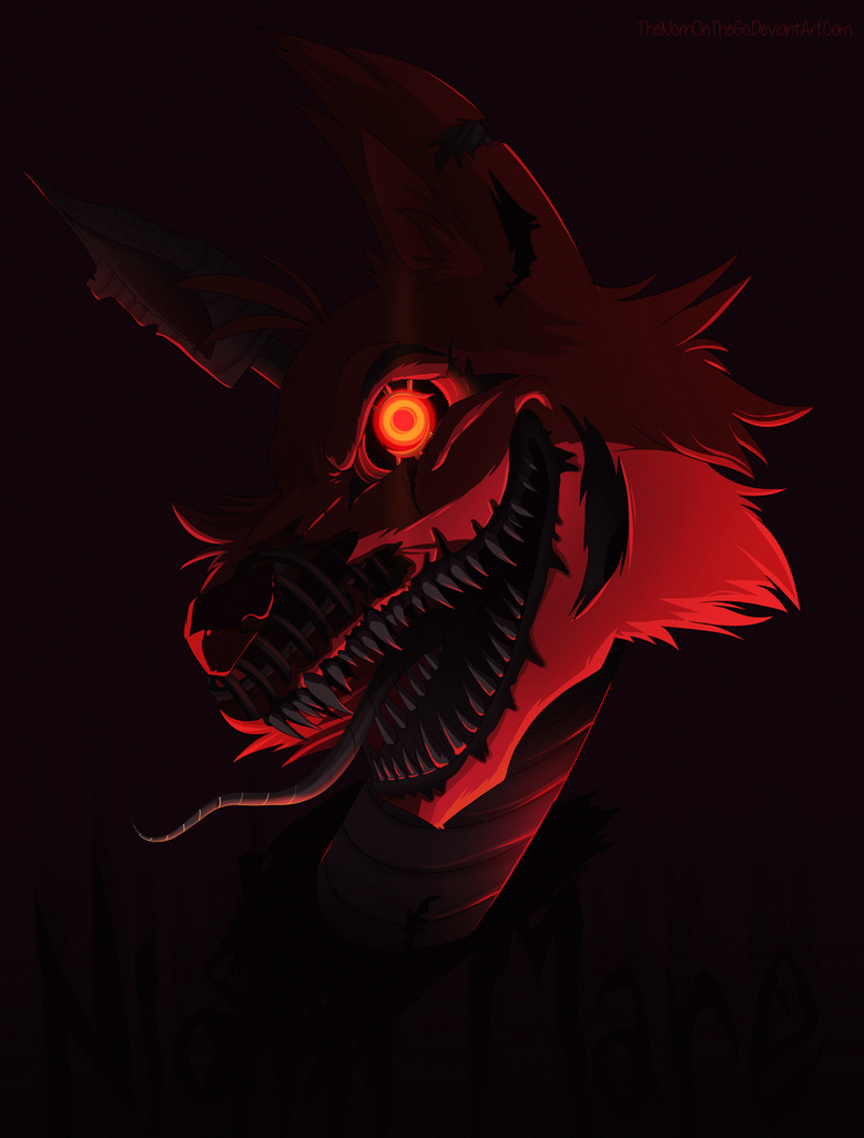 It is a graphic of Effortless Nightmare Foxy Drawing