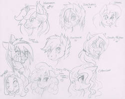 Free Character Sketches #4 by TheNornOnTheGo