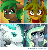 Commission: Jaeger Pony Icon Set by TheNornOnTheGo