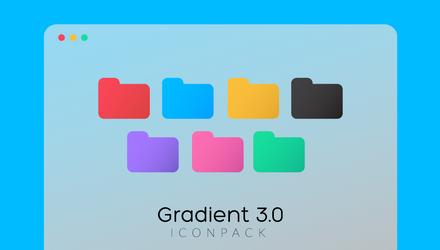 Gradient Folder Icons 3.0