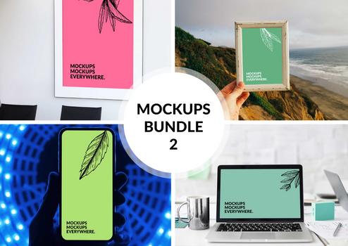 Free Browser Mockup Bundle 2