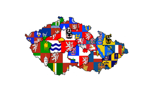Flag map of Czech countries