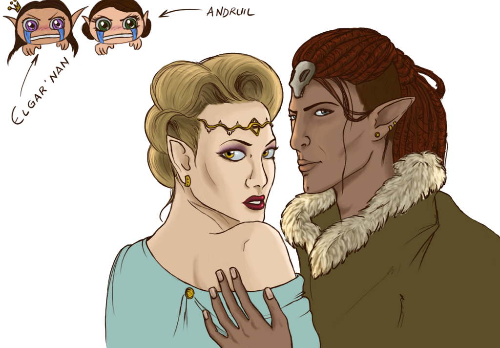 Young Mythal and Fen'harel