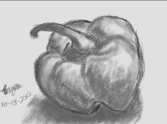 Pepper-More Still Life Practice by Torchic1123