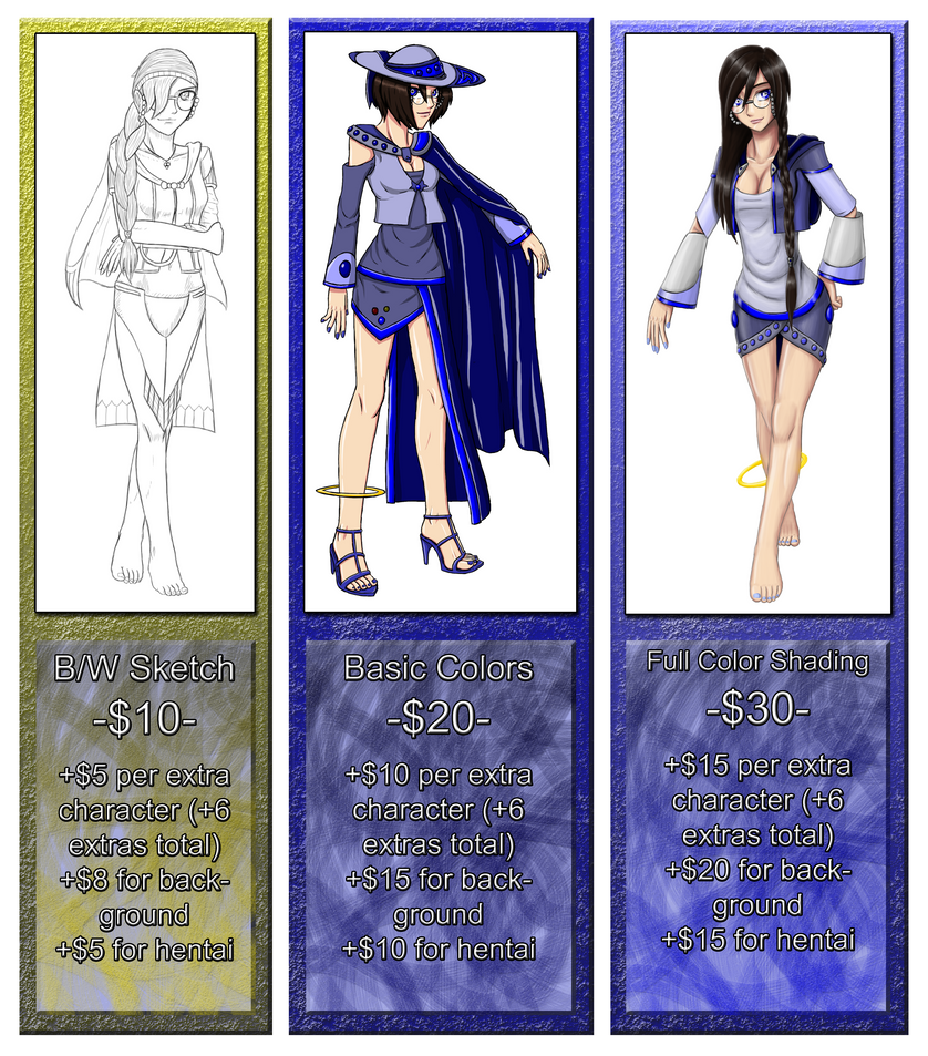 Commission Prices (UPDATED) (Again) (Again) (Yep)