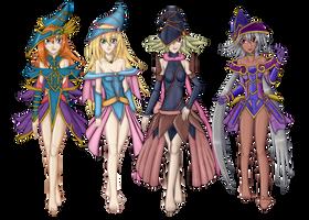 Commission #52 - Magician's Quartet by Artemis-Polara