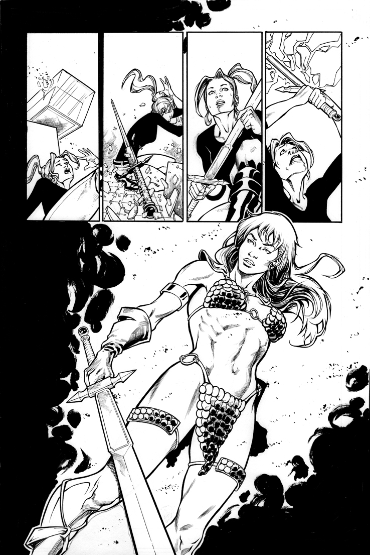 Red Sonja Altered States by Azulmelocoton
