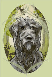 Huan the Wolfhound by Velouriah