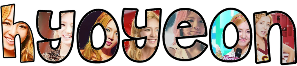 SNSD PNG Text:Hyoyeon by ompink