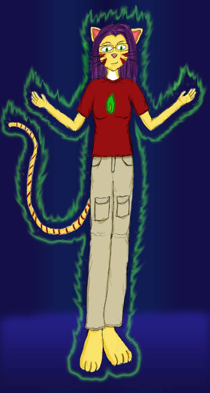 Green Flame Catgirl 2.0