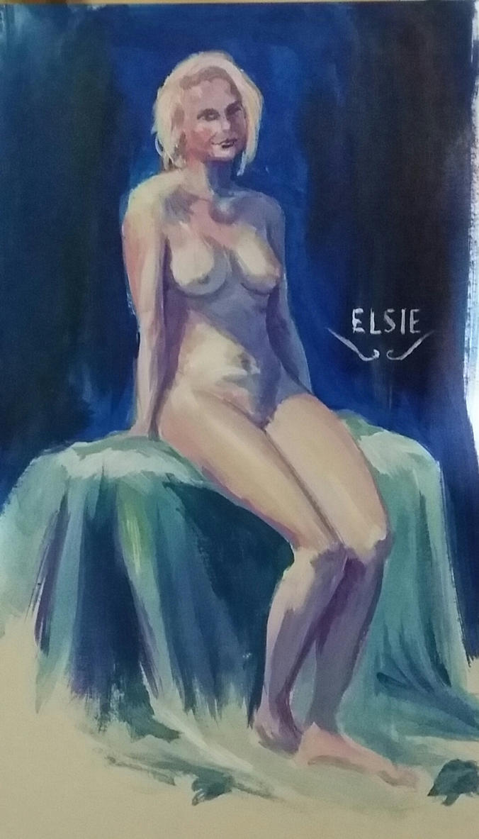 Life Drawing - Elsie by solid-alcohol