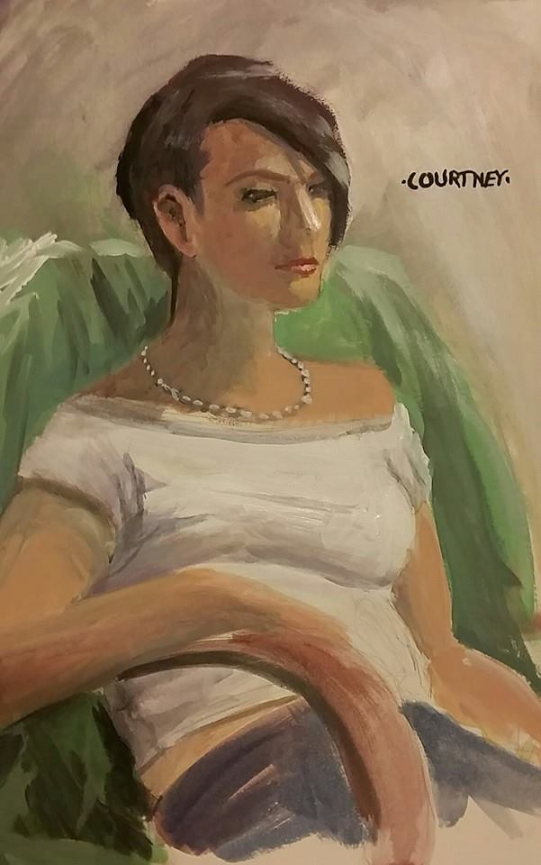 Acrylic portrait: Courtney by solid-alcohol