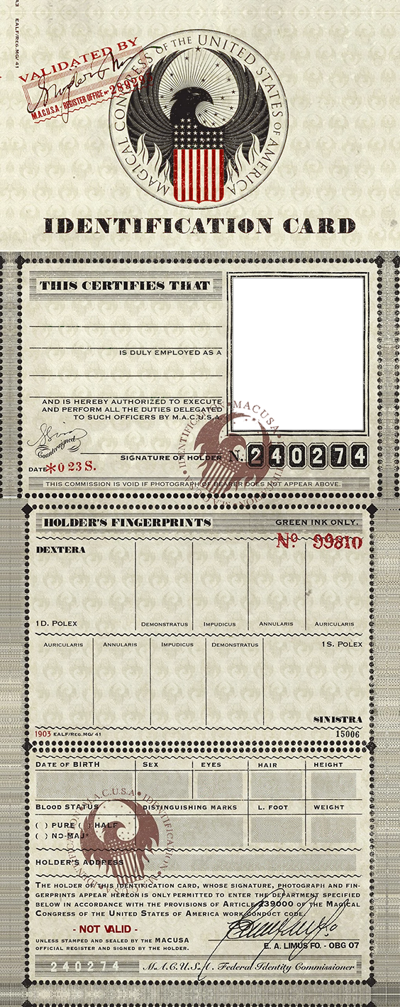 M.A.C.U.S.A. Identification Card Template PNG by Myrlena