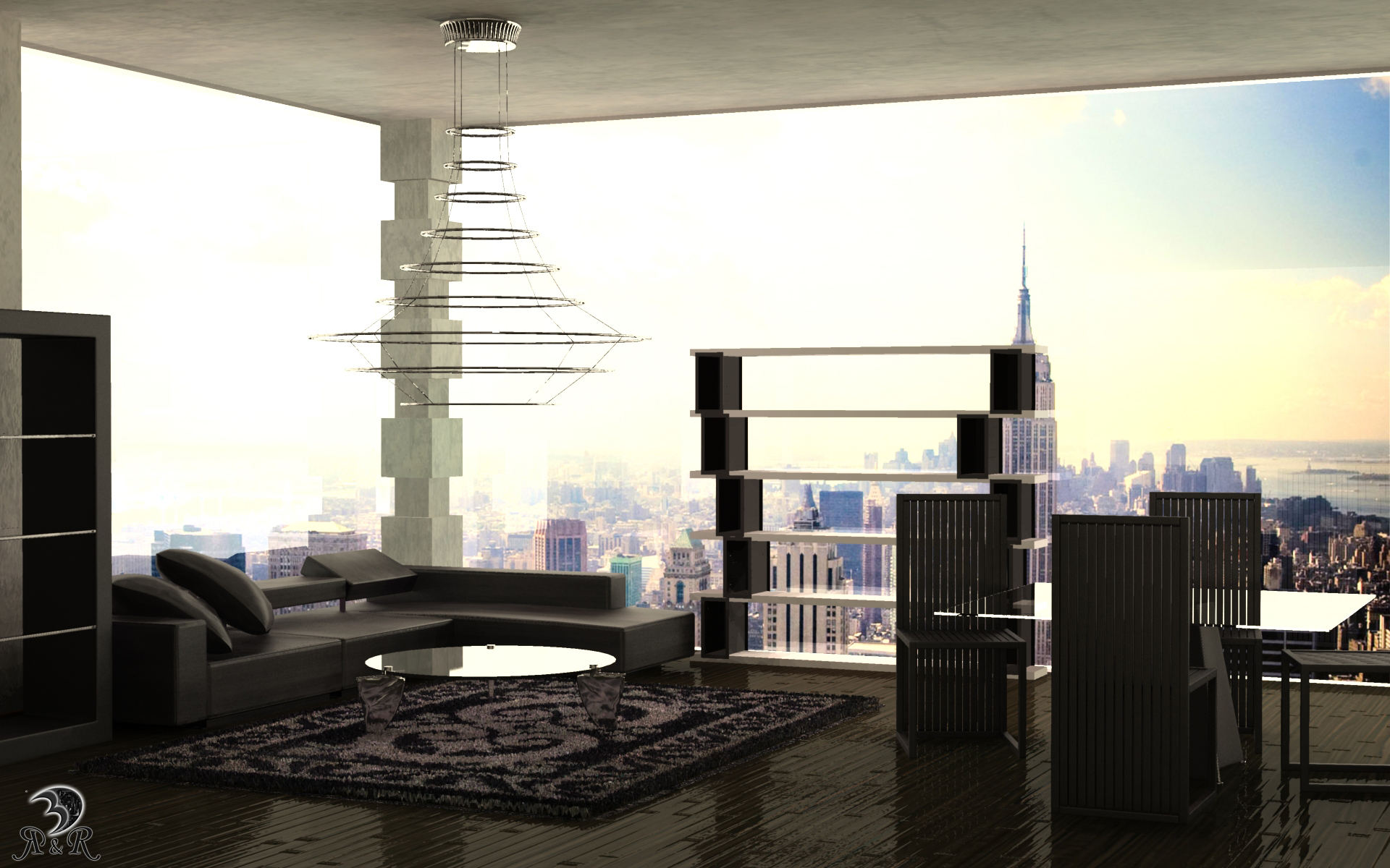 loft in new york by deeo elaclaire on deviantart. Black Bedroom Furniture Sets. Home Design Ideas