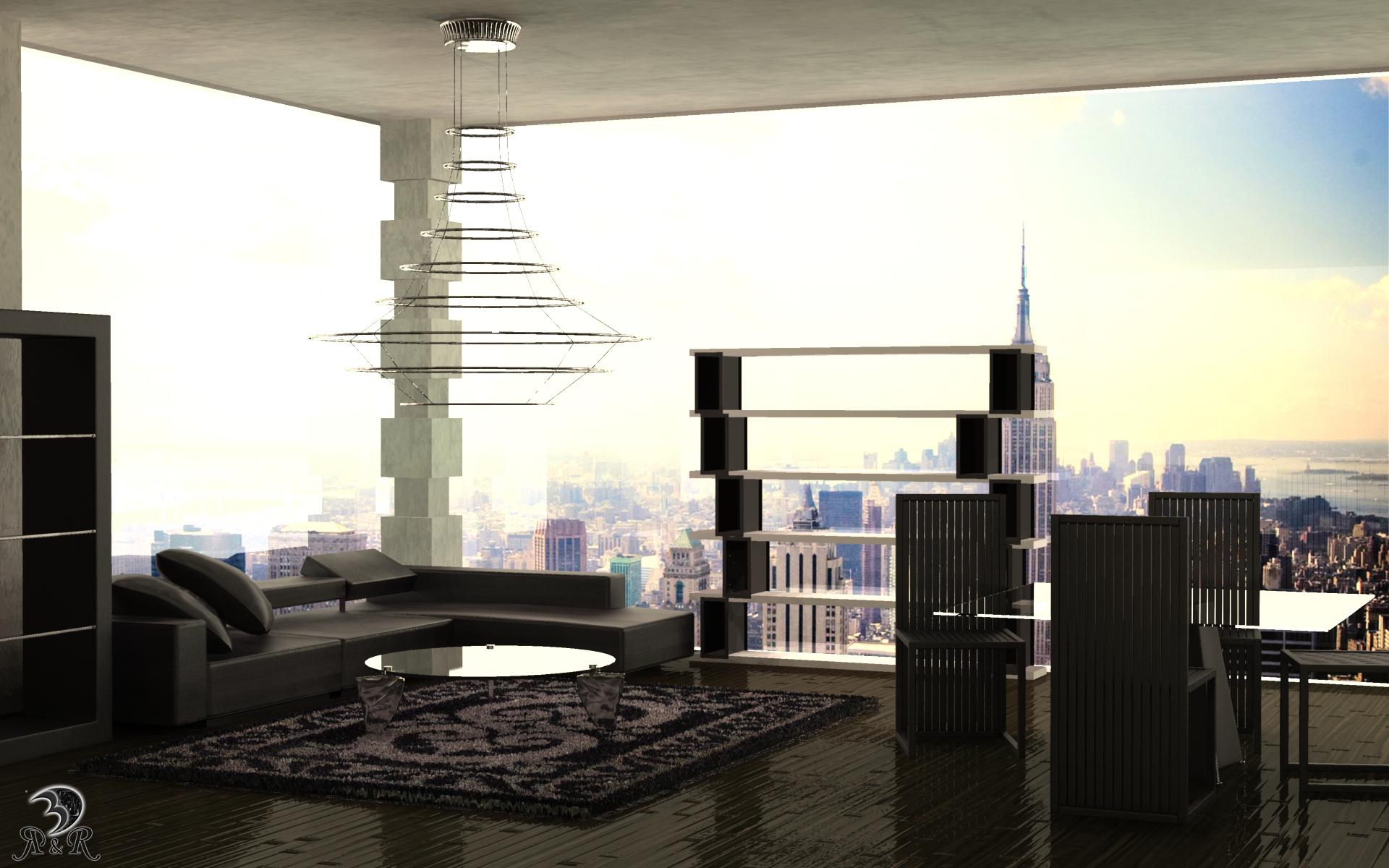 loft in new york by deeo elaclaire on deviantart. Black Bedroom Furniture Sets. Home Design Ideas