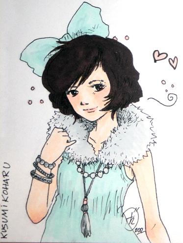Fashionable Kusumi Koharu by PucchiQ