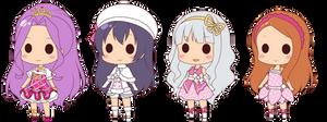 Chibi Idols Collaboration Vectors