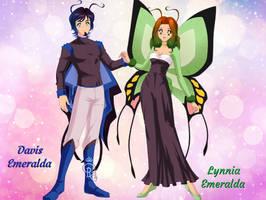 Davis + Lynnia Emeralda (Jadette's Parents) by HealerCharm