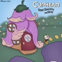 Cuphead Overworld Sprite - Jadette's Fairy House by HealerCharm