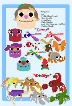 Bugsnax - Louella's Sticker, Loves + Dislikes