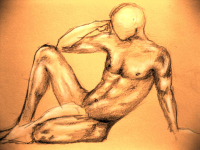 contemplating by body-parts