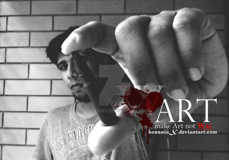 Make Art Not War 02 by hossainx