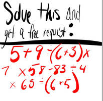 Solve and get a free request!.