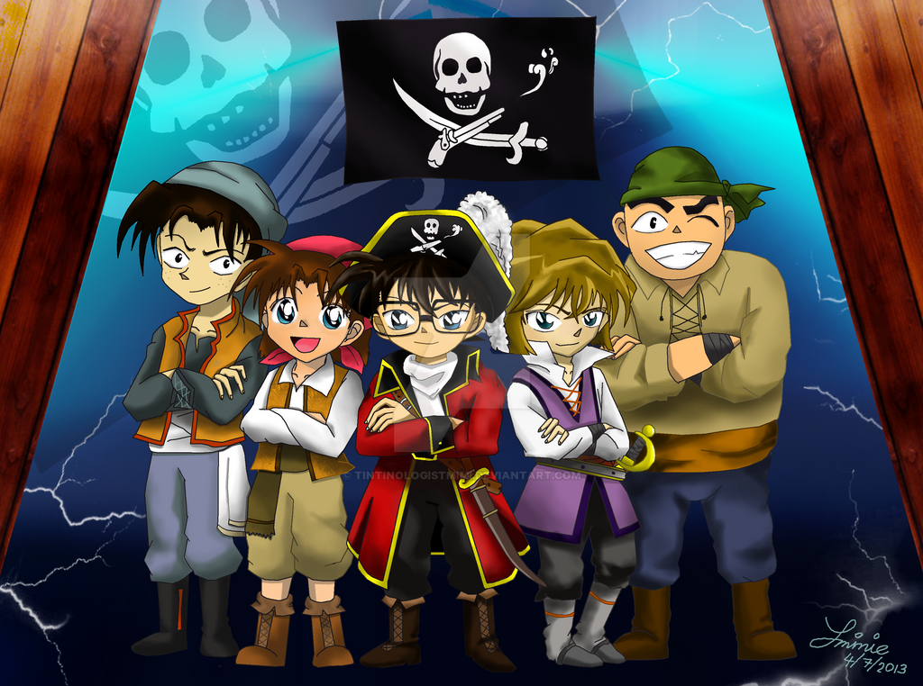 Detective Conan Jolly Roger in the Deep Azure by tintinologistmimi
