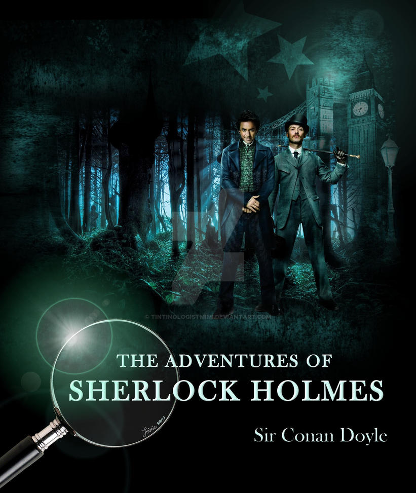 Sherlock Holmes Book Cover Art : The adventures of sherlock holmes book cover by
