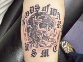 usmc skull by wardsean