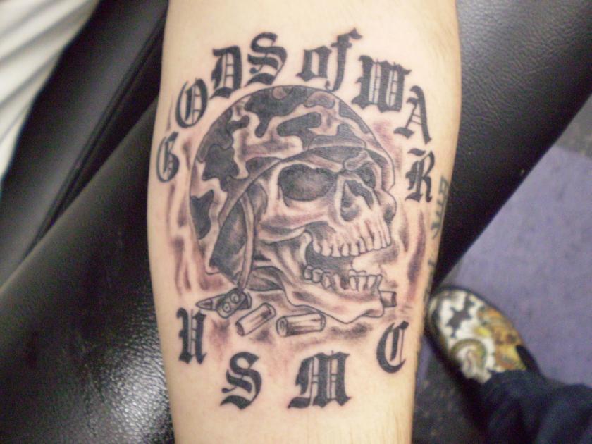 Usmc Skull Tattoo Designs
