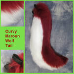 Curvy Maroon Wolf Tail